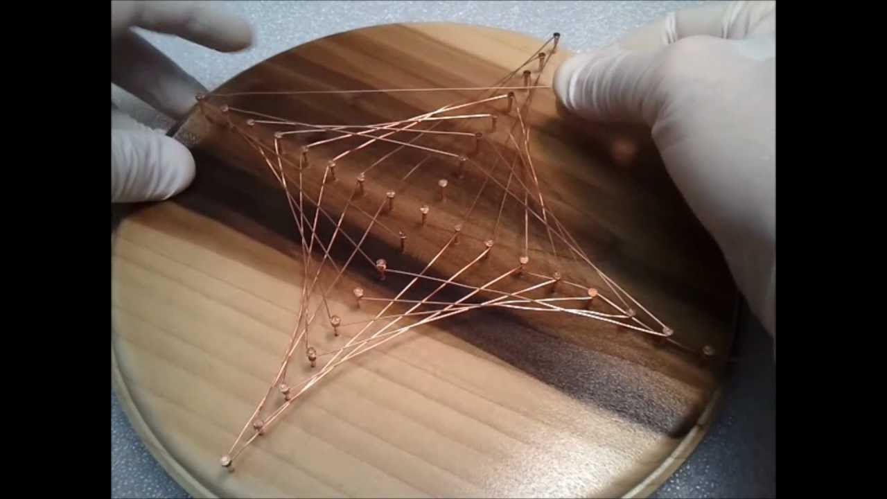 Copper wire astroid plaque youtube for Wire art projects