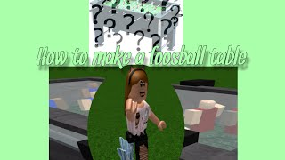 DIY How To Make A Foosball table