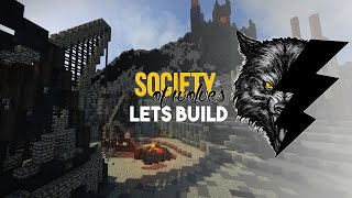 Minecraft Lets Build :: Custom Quarry! :: Society of Wolves Part 7