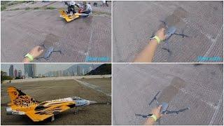 Mavic Pro maiden flight shooting HSD M2000 Turbine Jet (Hand catch)@HK Kai Tak RC Airpot