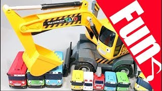 【Nursery Rhymes♬】Learn English Tayo the Little Bus Excavators Toys For Kids