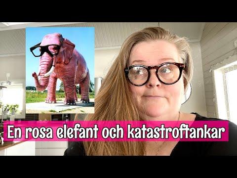 En rosa elefant och katastroftankar