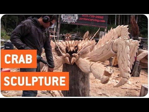 チェーンソーの彫刻の神業