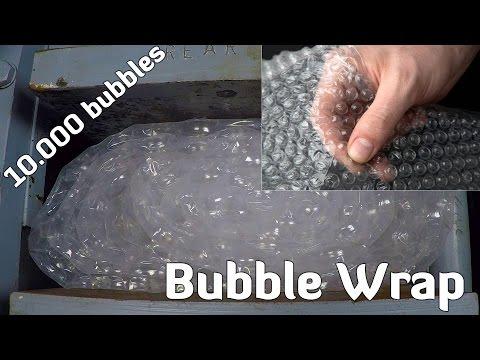 Hydraulic Press vs BUBBLE WRAP