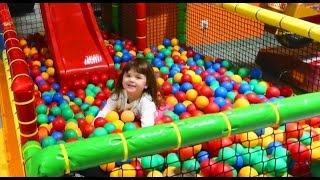 Indoor Playground Family Fun for Kids Play Center Slides Playroom with Balls