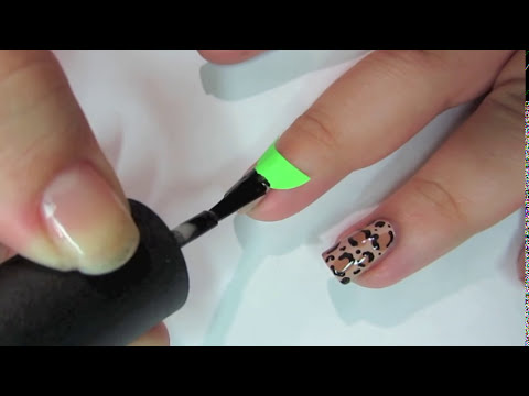 Matte Leopard Nail Tutorial and Halfmoon Manicure
