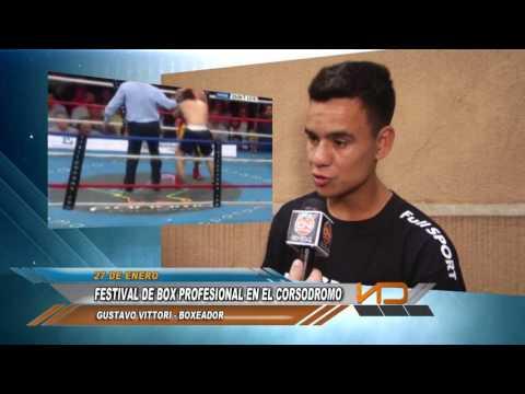 """Boxeo profesional en el """"Atanasio Bonfiglio"""""""