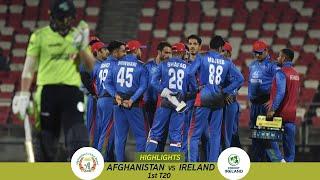 Highlights Afghanistan vs Ireland | 1st T20 | Afghanistan vs Ireland in India 2019