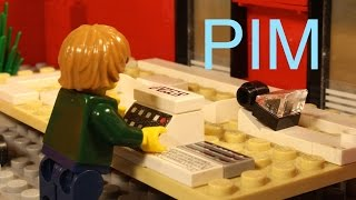 Lego Pim at the store
