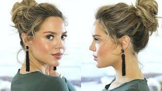 FAST & EASY UPDO | Valentine's Day Hairstyle | Elanna Pecherle