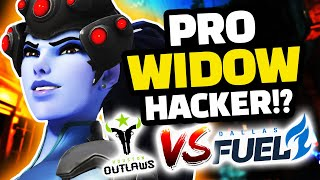 Overwatch - PRO WIDOW IS HACKING!? Dallas Fuel VS Houston Outlaws!