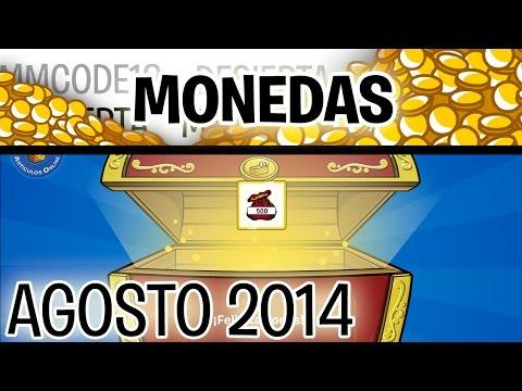 Códigos de monedas en Club Penguin - Agosto 2014 (Reutilizables)