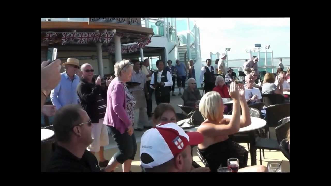 Crazy Guy Dancing On Pu0026O Cruise Ship Azura - June 2012 - YouTube