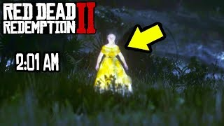 DO NOT GO TO THE SWAMP AT 2:01 AM OR THIS HAPPENS in Red Dead Redemption 2! Ghost Easter Egg in RDR2