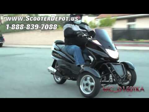 Three Wheels Gas Scooter. MC_D150TKA. Sunny 150cc 3 Wheels Trikes at ScooterDepot.us for $ 1.999