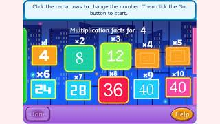 How to play Multiplication Facts game | Free online games | MantiGames.com