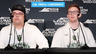 Scump and FormaL FULL Press Conference After Win VS Dallas Empire @ CDL LAUNCH WEEKEND