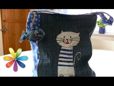 Шьём детские рюкзаки из джинсов