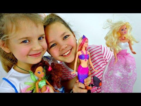 Распаковка куклы Барби: русалка и мыльные пузыри!