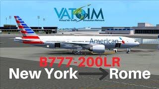 [FSX] American 236 | New York - Rome | B777-200LR | Full Flight | VATSIM