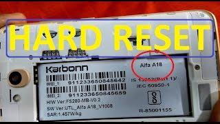 Karbonn Alfa A18 Hard Reset