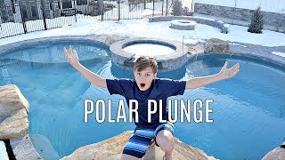 POLAR PLUNGE in our NEW POOL!