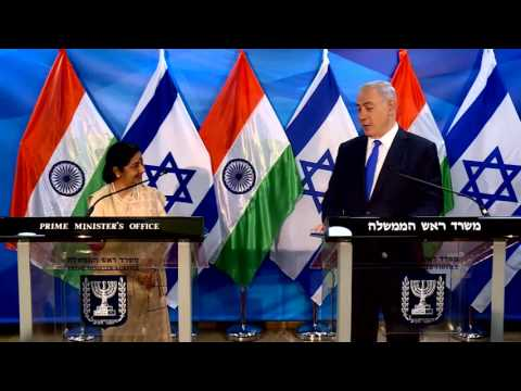 PM Netanyahu meets with Indian Minister for External affairs Sushma Swaraj