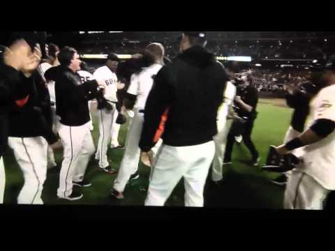 Matt Cain Perfect Game - Last out