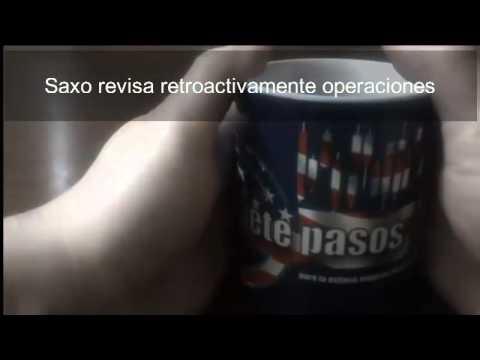 Saxo revisa retroactivamente operaciones franco