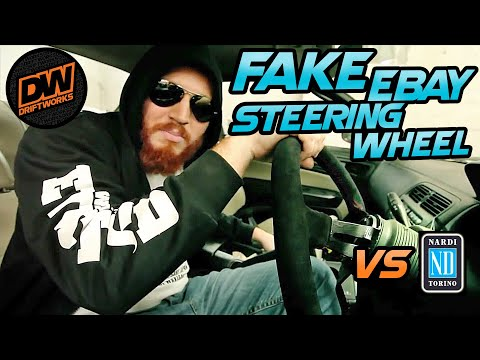 Fat guy bends fake Nardi steering wheel!