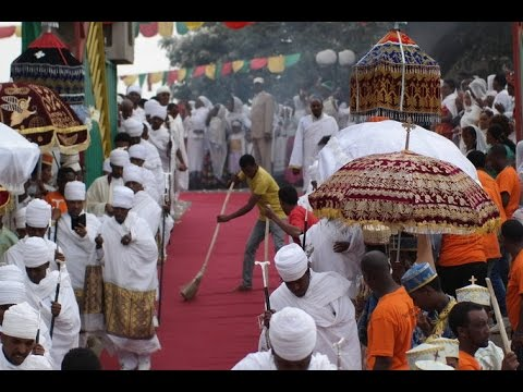 St. Urael Church Ethiopian Orthodox Ketera, eve of Epiphany / Timket colorful celebration