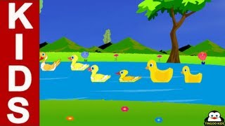 Nursery Rhymes | Six Little Ducks - One Little Duck With Feathers On His Back | Kids Songs Lyrics