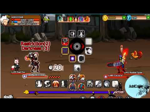 Pelea Ninja Saga usuario emblema vs ususario libre
