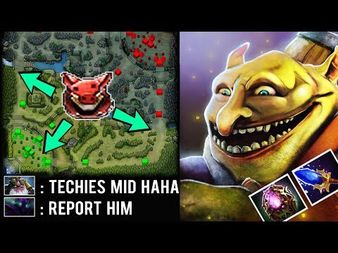 They Laugh When He Pick Techies Mid But He Show Them Power of 1700 Matches by DissMogki Dota 2