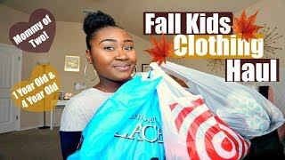 Mommy of Two Fall Kids Clothing Haul Target, Childrens Place, Walmart, & Ross