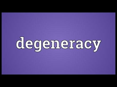 Header of degeneracy