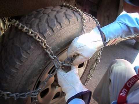 Colocacion de cadenas en faena caserones.AVI