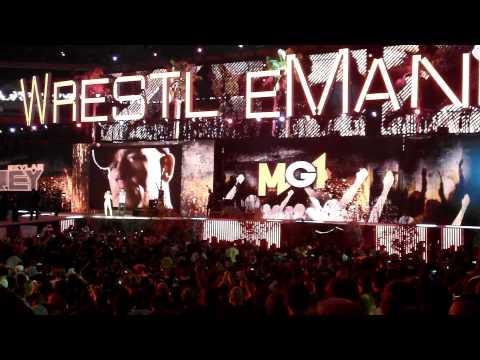 Wrestlemania 28 - John Cena full Entrance - MGK - Invincible...