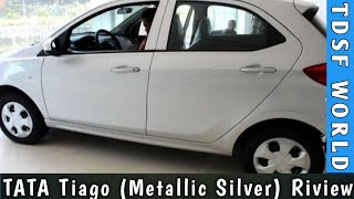 TATA Tiago XT model Silver color petrol