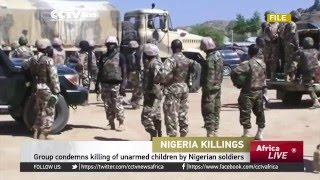 Group condemns killing of unarmed children by Nigerian soldiers