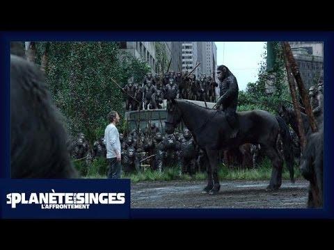 La Planète des Singes : L'Affrontement - Extrait Les singes ne veulent pas la guerre [Officiel] VOST