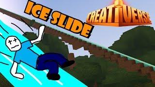 GIANT ICE SLIDE! (Creativerse #8)