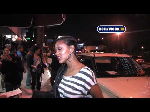 Meagan Good At Trousdale Nightclub Video