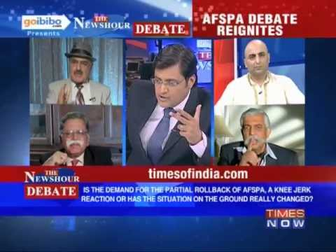 The Newshour Debate: Why the demand for partial roll back of AFSPA? (Part 1 of 2)
