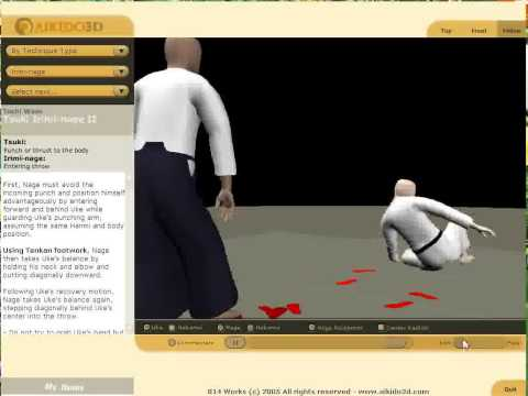 The world of Aikido martial arts self defense Irimi-nage (Các �òn tự v� trong Irimi-nage võ Aikido)