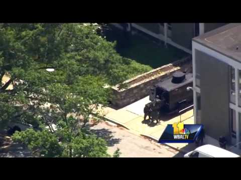 Team coverage: Truck rams WMAR; Witnesses react