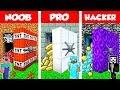 Minecraft NOOB vs PRO vs HACKER: SECRET VAULT BASE CHALLENGE in Minecraft / Anim