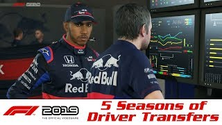 F1 2019 - 5 Seasons of Driver Transfers in Career Mode
