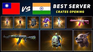 India Vs Taiwan which is the Best Server for Crates Opening after 0.13 Update