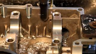 CB Performance - CNC Machine Work on Magnesium Engine Case HD